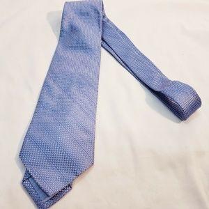 Nicole Miller Silk Tie Diagonal Striped Tweed Text
